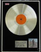 JOHNNY CASH  -  LP  Platinum  Disc  - RIDE THIS TRAIN
